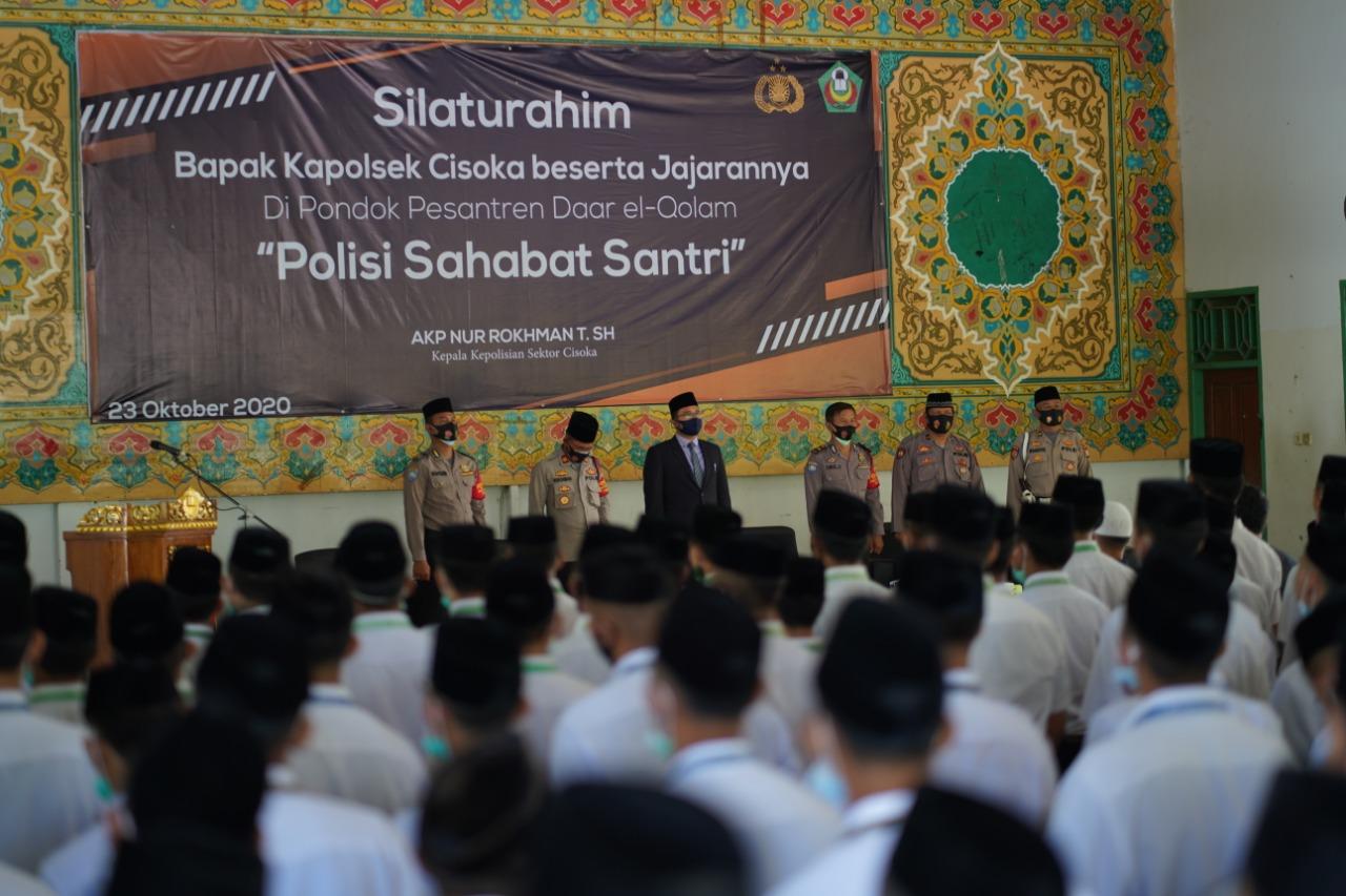 Kunjungan Silaturahmi Kapolsek Cisoka di Pondok Pesantren Daar el-Qolam